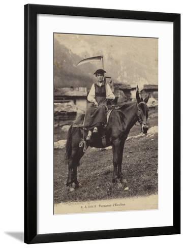 Peasant Girl of Evolene, Switzerland--Framed Art Print