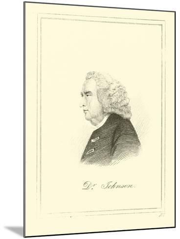 Dr. Johnson--Mounted Giclee Print