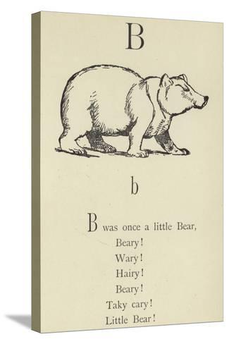 The Letter B-Edward Lear-Stretched Canvas Print