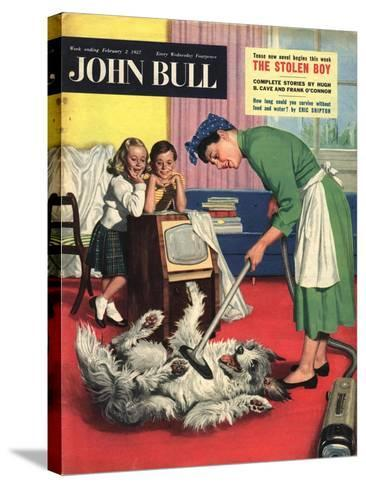 Front Cover of 'John Bull', February 1957--Stretched Canvas Print
