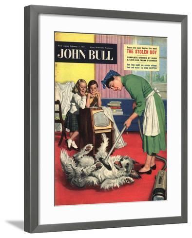 Front Cover of 'John Bull', February 1957--Framed Art Print