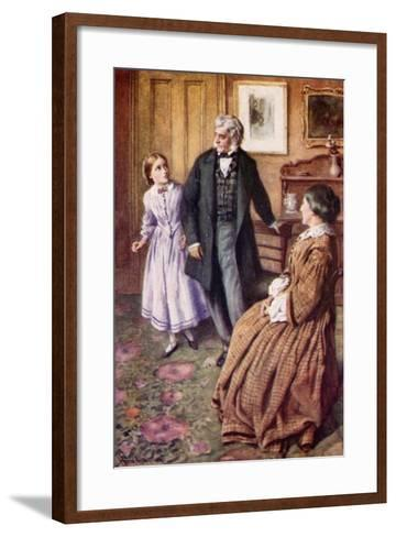"""Oh, Sir! They Do Care, Very, Very Much!""-Harold Copping-Framed Art Print"