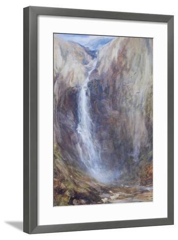 Aber Falls-Henry Clarence Whaite-Framed Art Print