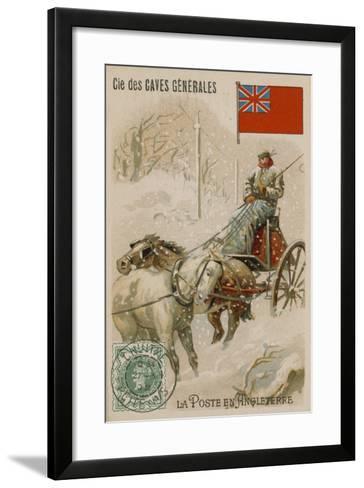 Cie Des Caves Generales Trade Card, Postal--Framed Art Print