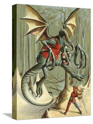 """""""Beware the Jabberwock, My Son.""""--Stretched Canvas Print"""