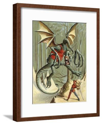 """Beware the Jabberwock, My Son.""--Framed Art Print"