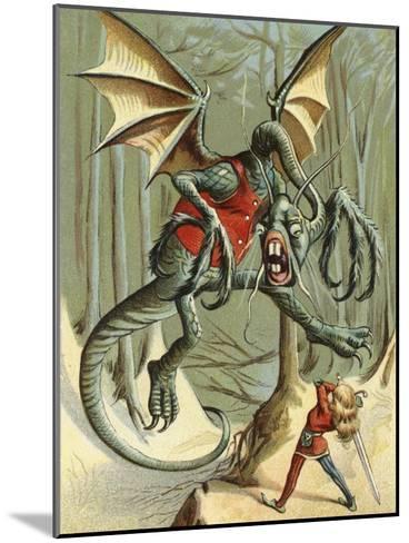 """Beware the Jabberwock, My Son.""--Mounted Giclee Print"