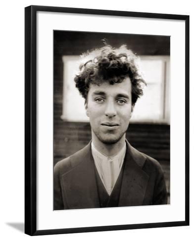 Portrait of Charlie Chaplin Aged 27, 1916--Framed Art Print