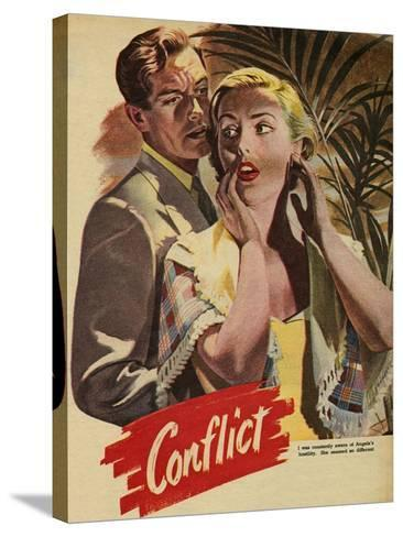 Conflict, Illustration from 'John Bull', 1952--Stretched Canvas Print