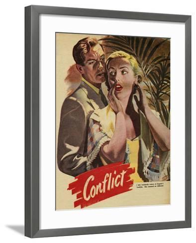 Conflict, Illustration from 'John Bull', 1952--Framed Art Print