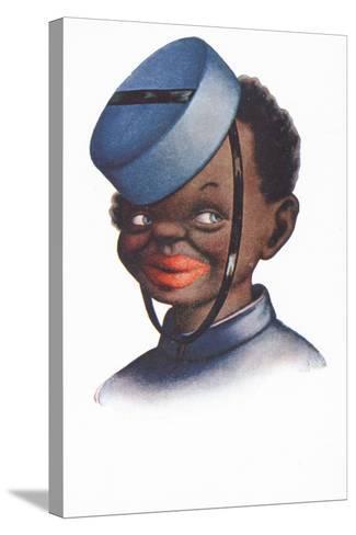 Caricature Portrait of a Black Bellboy--Stretched Canvas Print