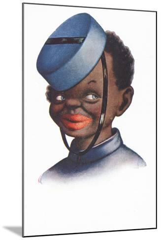 Caricature Portrait of a Black Bellboy--Mounted Giclee Print