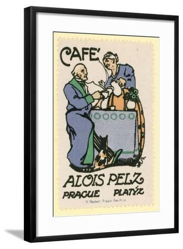 Cafe Alois Peltz, Prague--Framed Art Print