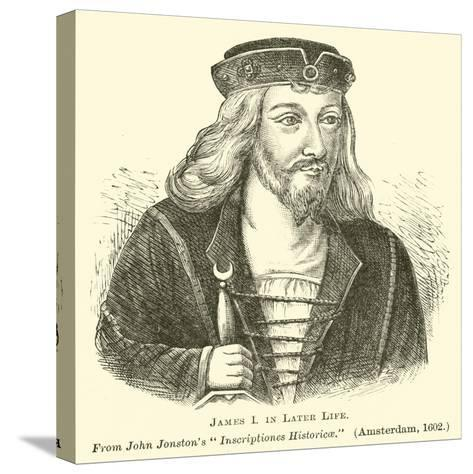 James I in Later Life--Stretched Canvas Print
