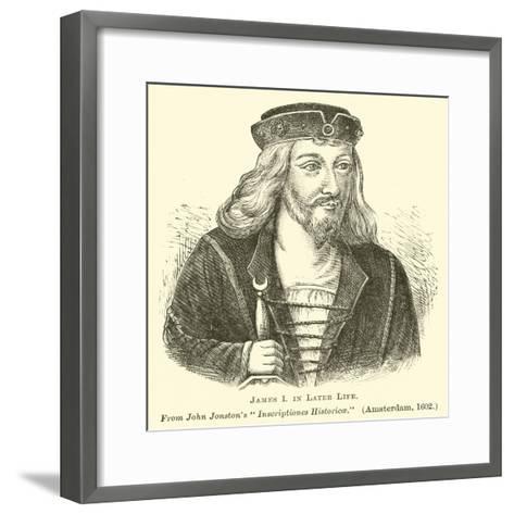 James I in Later Life--Framed Art Print