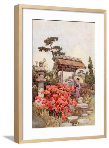 Azaleas-Ella Du Cane-Framed Art Print