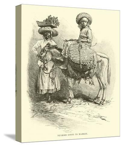 Negroes Going to Market--Stretched Canvas Print