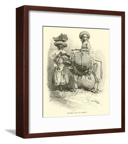 Negroes Going to Market--Framed Art Print