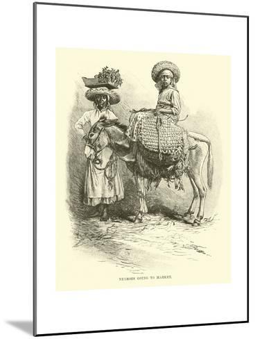 Negroes Going to Market--Mounted Giclee Print