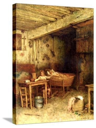 Interior of a Cottage-Alexei Alexevich Harlamoff-Stretched Canvas Print