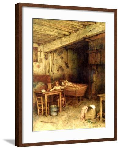 Interior of a Cottage-Alexei Alexevich Harlamoff-Framed Art Print