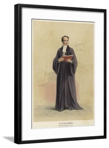 A Cleryman Wearing a Preaching Gown--Framed Art Print