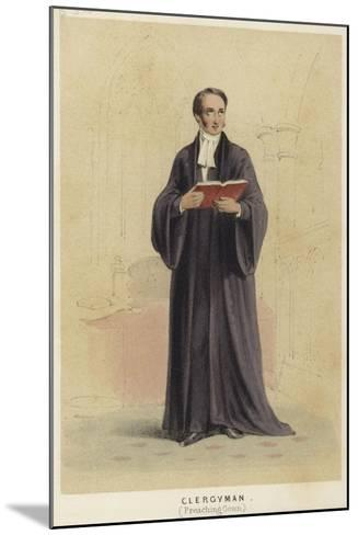 A Cleryman Wearing a Preaching Gown--Mounted Giclee Print