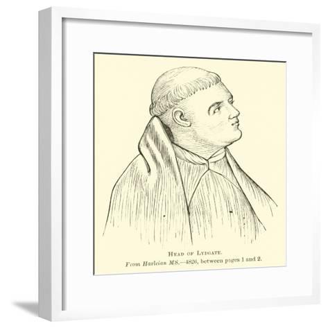 Head of Lydgate--Framed Art Print