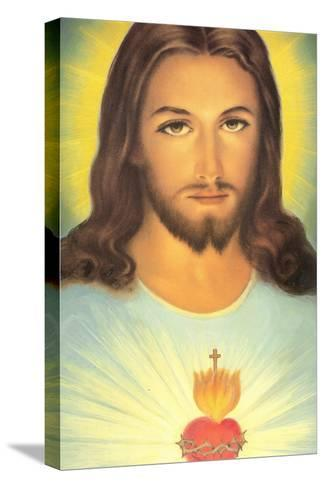 The Sacred Heart of Jesus, 19th Century--Stretched Canvas Print