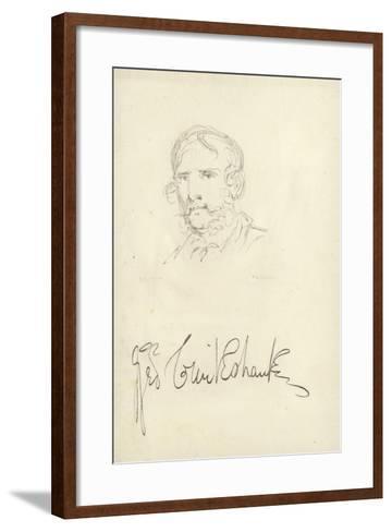George Cruikshank, English Caricaturist--Framed Art Print