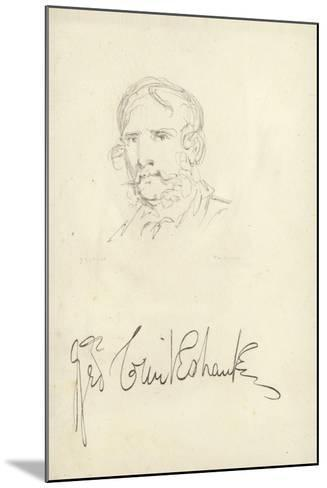 George Cruikshank, English Caricaturist--Mounted Giclee Print