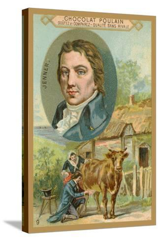 Chocolat Poulain Trade Card, Edward Jenner--Stretched Canvas Print