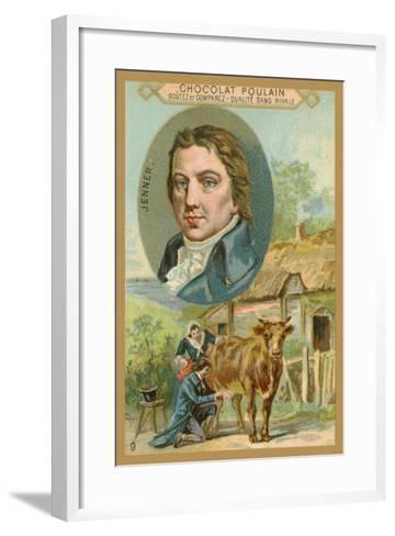 Chocolat Poulain Trade Card, Edward Jenner--Framed Art Print