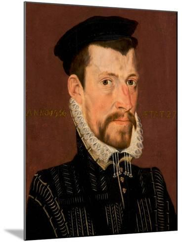 Portrait of a Nobleman, 1556-Pieter Jansz. Pourbus-Mounted Giclee Print
