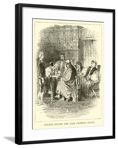 Prynne before the Star Chamber Court--Framed Art Print