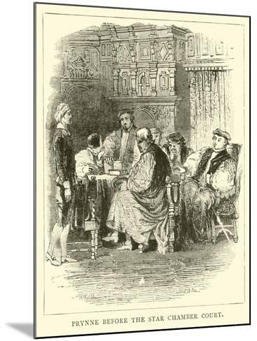 Prynne before the Star Chamber Court--Mounted Giclee Print