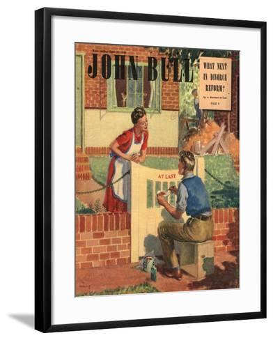Front Cover of 'John Bull', April 1948--Framed Art Print