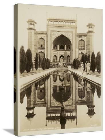 Main Gate to the Taj Mahal, Agra--Stretched Canvas Print