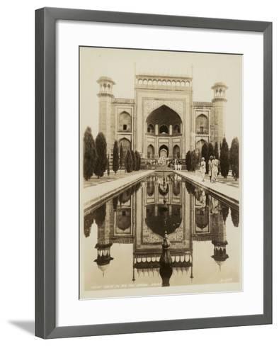 Main Gate to the Taj Mahal, Agra--Framed Art Print