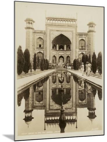 Main Gate to the Taj Mahal, Agra--Mounted Photographic Print