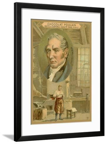 Chocolat Poulain Trade Card, Robert Stephenson--Framed Art Print