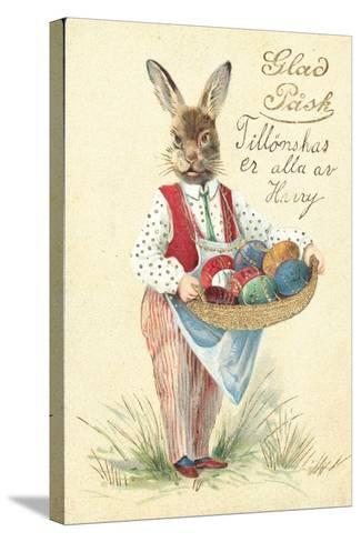 Swedish Easter Card--Stretched Canvas Print