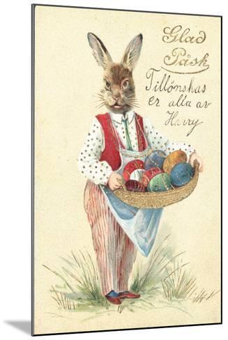 Swedish Easter Card--Mounted Giclee Print