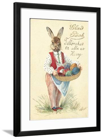 Swedish Easter Card--Framed Art Print