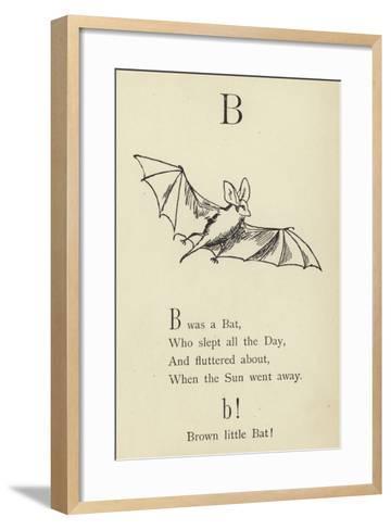 The Letter B-Edward Lear-Framed Art Print