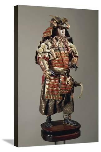 Figurine of Samurai--Stretched Canvas Print