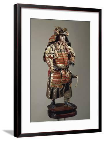 Figurine of Samurai--Framed Art Print