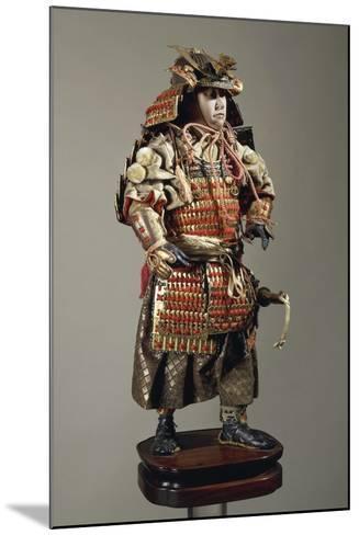 Figurine of Samurai--Mounted Giclee Print