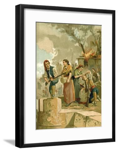 The Defenders of Gerona--Framed Art Print