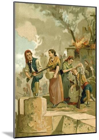 The Defenders of Gerona--Mounted Giclee Print